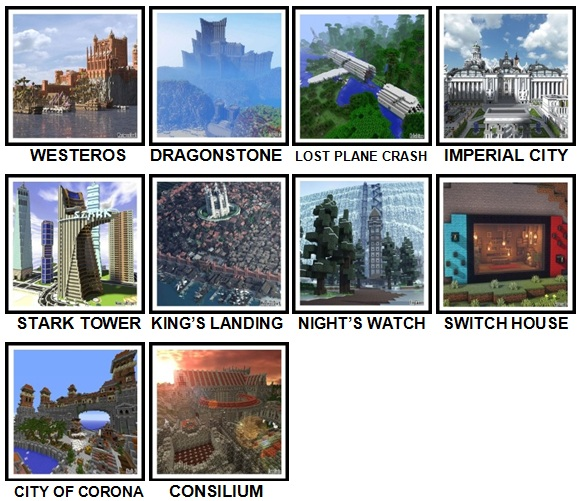 100 Pics Made In Minecraft Level 71-80