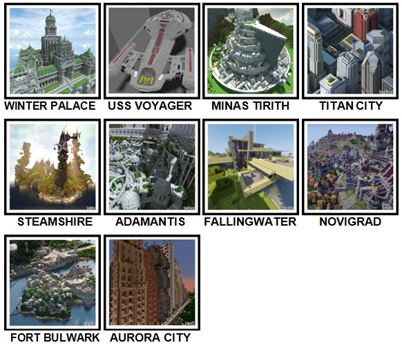 100 Pics Made In Minecraft Level 81-90