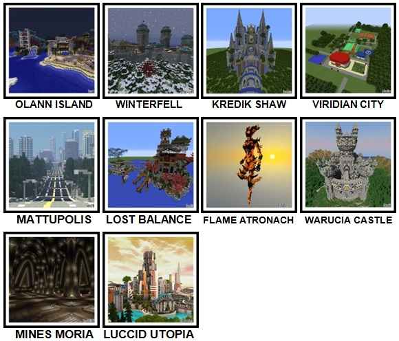 100 Pics Made In Minecraft Level 91-100